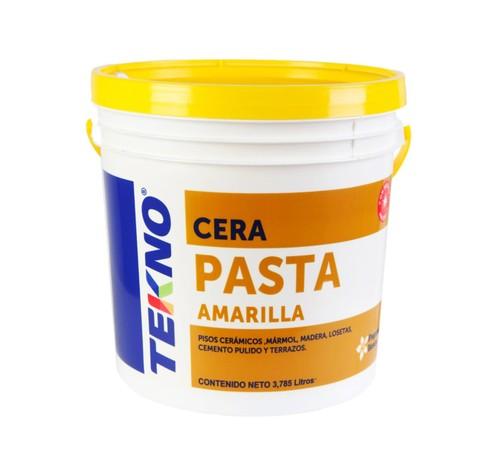 Cera en pasta amarilla tekno multicleaner for Cera para pisos de marmol